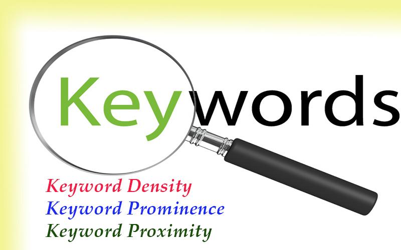 Get Keyword Density, Prominence, and Proximity Explaining