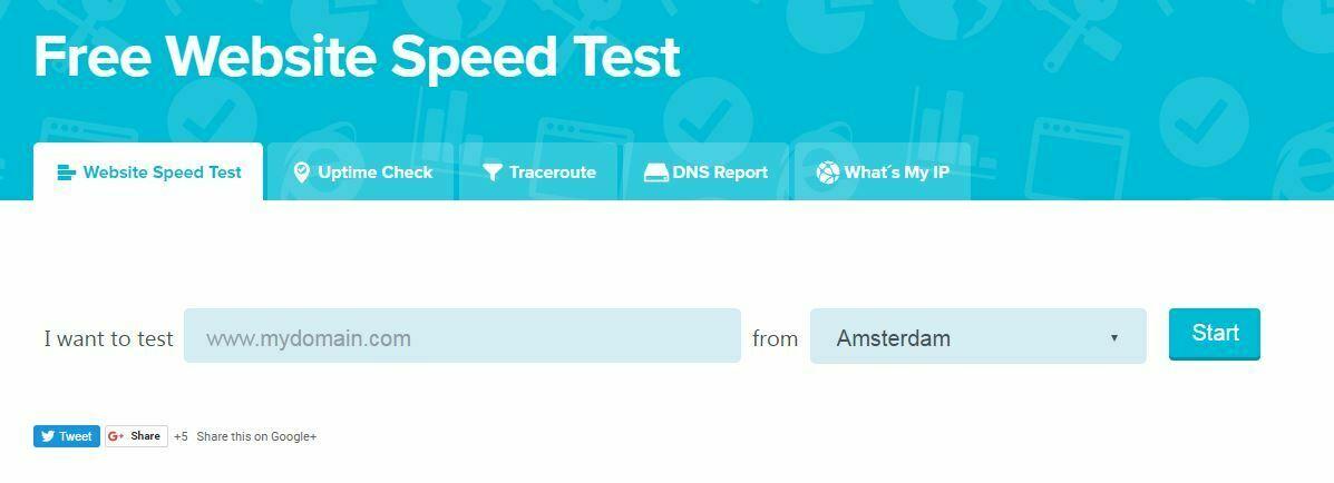 New Website Speed Test - Uptrends Online