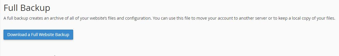 How to Backup WordPress website