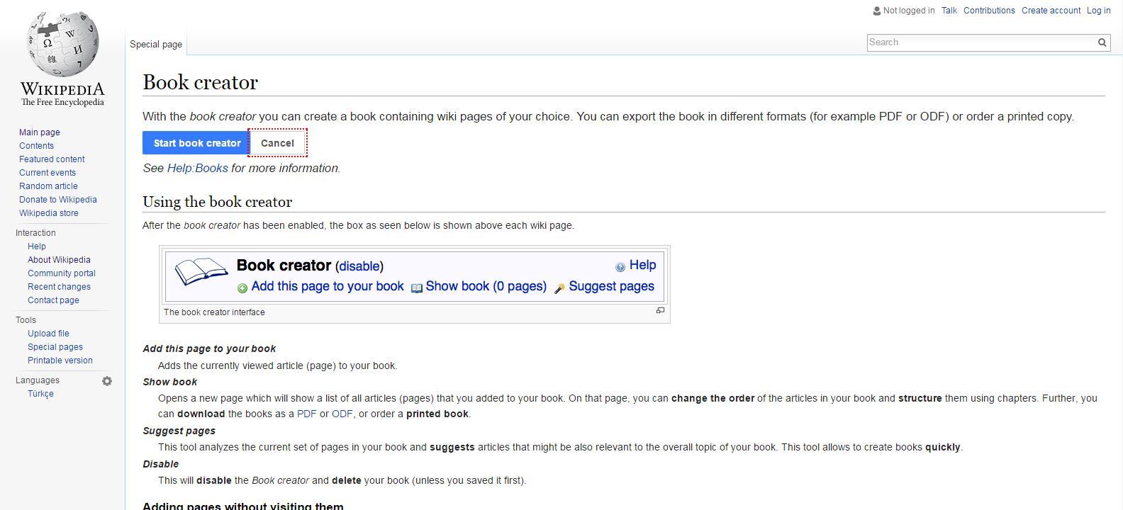 Book Creator Free Wikipedia